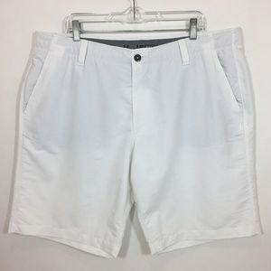 Under Armour Mens Golf Shorts 42 White Flat Front